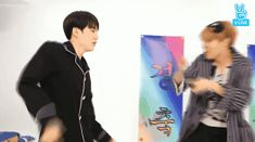 Yoonseok dancing is FAVE! BTW do you see the gif pauses on Hoseok about to hit Yoongis butt ahaha ❤ BTS 'WINGS' preview SHOW on V LIVE #BTS #방탄소년단