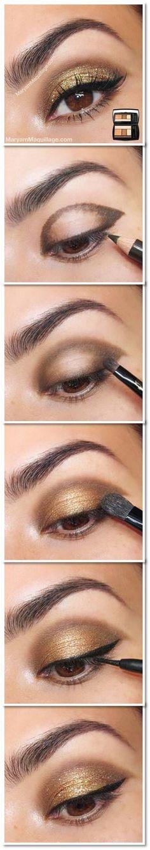 How To: Gold Glitter Eye