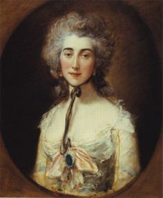 """""""Grace Elliot Dalrymple"""" by Thomas Gainsborough (1778) - """"Grace Dalrymple was married very early to a rich physician but after a scandal she fled and ended up in England thanks to her benefactor Lord Cholmondery. She took many other patrons among whom the Prince of Wales future George IV who in turn introduced her to the Duc d'Orleans. Grace moved to Paris to be near her royal lover where she remained throughout the Revolution."""""""