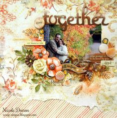 Happy Together (scrap-utopia) - September 'Falling Leaves' kit from Scraps of Elegance and inspired by the October Prima Amber Moon and Blue Fern Apricot