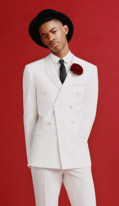 Top hats and tailored white suits are so summer. #men #aff