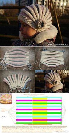 КАК СВЯЗАТЬ ДЕТСКУЮ ШАПОЧКУ (укороченными рядами) autour du tissu déco enfant paques bébé déco mariage diy et crochet Baby Knitting Patterns, Baby Hats Knitting, Summer Knitting, Knitting For Kids, Knitted Hats, Crochet Patterns, Crochet Beanie, Crochet Baby, Bonnet Crochet