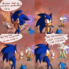 See more 'Sonic the Hedgehog' images on Know Your Meme! Sonic The Hedgehog, Silver The Hedgehog, Shadow The Hedgehog, Thanks Game, Sonic Underground, Sonic Funny, Sonic Franchise, Pokemon, Sonic Adventure