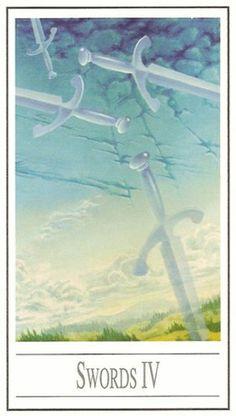 #4 d'épées - #Tarot Ananda par Ananda Kurt Pilz #swords