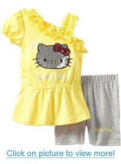 Hello Kitty Girl's Dress $ Legging Set With Sequin Foil #Hello #Kitty #Girls #Dress # #Legging #Set #Sequin #Foil