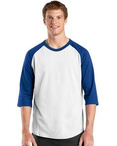 Buy Sport-Tek T200 Colorblock Raglan Jersey by Port Authority. Branded T  Shirts 9d32a42c0