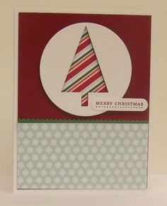 Christmas Tree punch,Nordic Noel DSP,Stampin' Up!