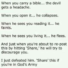 How can I conqure Satan...?? Read the Scriptures  D&C 10:5