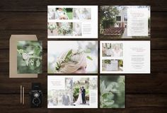 Wedding Magazine Template by Design by Bittersweet on @creativemarket