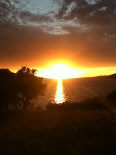 Sunset - Cahuma Lake, Ca