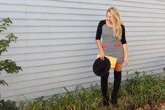 #blog #blogger #lifestyle #fashion #style #fallfashion #fallstyle #autumn #winter #chicago #stripes #fedora #otk #blonde #b&W