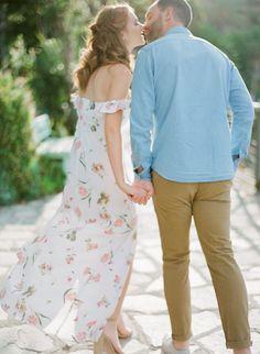 Destination Engagement Session in Cinque Terre, Manarola Anniversary Photos, Cinque Terre, Wedding Photoshoot, Engagement Shoots, Photo Shoot, Beautiful Dresses, Cold Shoulder Dress, How To Wear, Colors