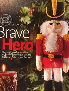 Excited to share the latest addition to my #etsy shop: Alan Dart's Brave Hero Nutcracker Alan Dart, Ballet Boys, Simply Knitting, Wooden Stars, Knitting Magazine, Darts, Stuffed Toys Patterns, Brave, December
