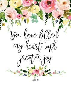 You Have Filled My Heart Psalm 4 7 Bible Verse Print Bible Verse Art, Bible Verses Quotes, Bible Scriptures, Bible Quotes About Joy, Bible Verses About Family, Verses About Joy, Baby Scripture, Uplifting Bible Quotes, Psalms Quotes