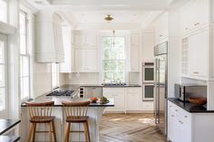 Classic and light filled kitchen.