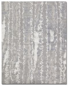#TufenkianCarpets Desert Platinum - An abstract, fluid carpet that sweeps across the floors in the finest wool and bamboo silk. A striking combination of silver grey and pearl white unfurl graceful elegance over the floor.