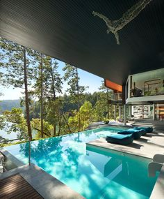 Yes! Beautiful indoor pool design and what a view