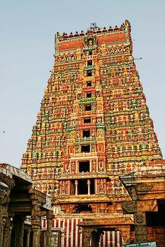 108 Vishnu Places Of Pilgrimage Divya Desams Ramanathaswamy Temple, Temple India, Hindu Temple, Indian Temple Architecture, Religious Architecture, Ancient Architecture, Sanctum Sanctorum, Fire Photography, Shiva Statue