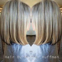 Blonde Highlights With A Light Brown Lowlight  Lob Haircut