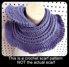 Instant Download Mini Ruffle Crochet Infinity Cowl Scarf PDF Pattern by strawberrycouture on Etsy