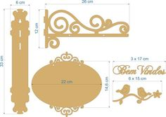 Placa - Batente Bem Vindos - loja online Cnc Projects, Woodworking Projects, Wooden Decor, Wooden Signs, Stencil, Scroll Saw Patterns, Paper Decorations, Artisanal, Furniture Making