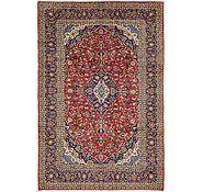 Red 6' 9 x 10' 4 Kashan Persian Rug | Persian Rugs | iRugs UK