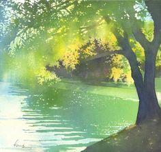 過ぎ行く日々.jpg Kanta Harusaki watercolor