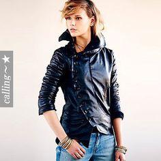 セレブ愛用者多数☆Free People☆ Military Leather Jacket