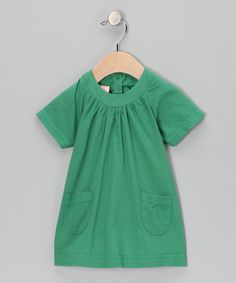 Take a look at this Green Shift Dress - Infant on zulily today!