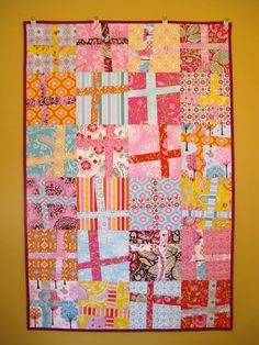 'Pretty Little Thing' Wonky Cross Quilt | Crafting