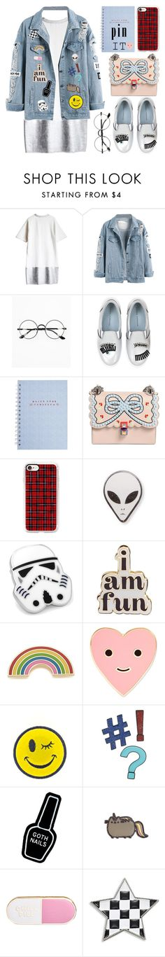 """""""Just Pin It"""" by juliaalexsa ❤ liked on Polyvore featuring Chicnova Fashion, Chiara Ferragni, Fendi, Casetify, Cufflinks, Inc., ban.do, Georgia Perry, Ana Accessories, Design Lab and Witch Worldwide"""