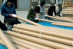 Shigeru Ban, tubi di cartone, Fragile/Antifragile #temporary #architecture