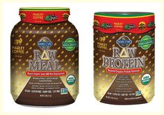 Garden of Life and Marley Coffee Raw Protein. This is gluten free and soy free and DELICIOUS!