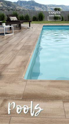 Backyard Pool Designs, Small Backyard Pools, Swimming Pools Backyard, Decks Around Pools, Pool Decks, Pool Screen Enclosure, Kleiner Pool Design, Swimming Pool Tiles, Pool Steps