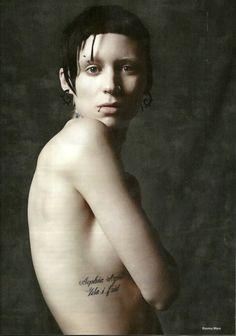 tattoo - The Girl with the Dragon Tattoo - Rooney Mara