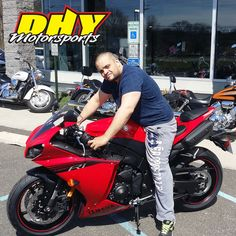 Congratulations to Melvin from #Chester on his purchase of this 2014 #Yamaha #YZFR1 Enjoy the superbike champion. Thank you for making your purchase at #DHYMotorsports #mynewride #dhynj