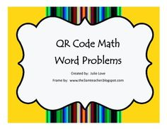 59 best classroom qr codes images on pinterest qr codes task qr code math word problems 2nd grade fandeluxe Gallery