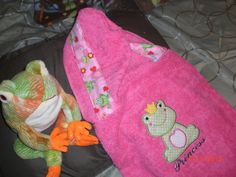 Hooded Bath Towel Wrap Beach Towel Wrap Toddler Baby Children Kids Personalized. $25.75, via Etsy.