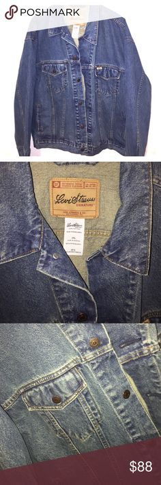 NWOT LEVI'S JEAN JACKET UNISEX 2XL XXL MENS WOMENS NWOT LEVI'S JEAN JACKET UNISEX 2XL XXL   Plz see pix for references and ask any questions GREAT CONDITIONS NWOT MENS LEVI'S DENIM JEAN JACKET REGULAR FIT MY BF CANT FIT EM. THERE TOO BIG FOR HIM. SO OUR LOSS YOUR GAIN!! ENJOY Levi's Jackets & Coats Bomber & Varsity