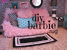 DIY: Barbie rug and house decor ( ideas for Monster High dolls)