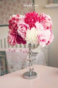 lampenkap oppimpen met kunstbloemen
