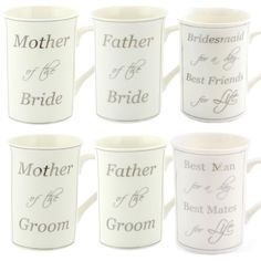 Mother / Father of Bride / Groom, Best man, Bridesmaid - Wedding Gift Mug