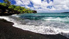 Black Sand Beach , Hawaii. (Volcanic Ash)
