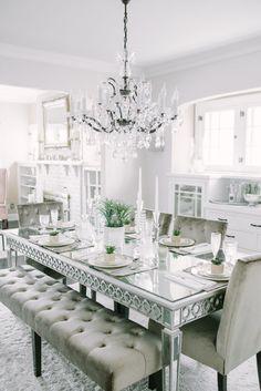 Sofia Vergara Paris Silver 5 Pc Dining Room