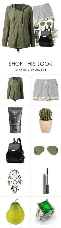"""""""~So gather all the rebels now, we'll rebel-rouse and sing aloud~"""" by himan-shiro ❤ liked on Polyvore featuring James Perse, Monki, NARS Cosmetics, Ray-Ban, MAC Cosmetics, Nearly Natural and Diamondere"""