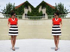 Hallhuber Skirt, Zara Dress, Guess? Pumps