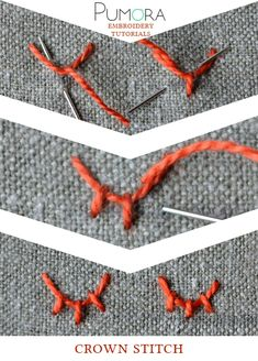 Pumora's lexicon of embroidery stitches: the crown stitch