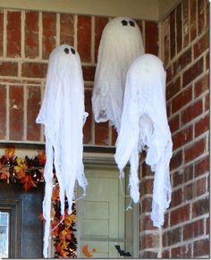 halloween hanging ghosts | Farmstyle Studio: Pottery Barn Halloween Hanging Ghost Tutorial
