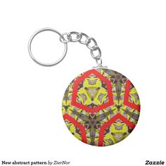 New abstract pattern basic round button keychain Round Button, Abstract Pattern, Buttons, Personalized Items, Color, Colour, Colors, Paint, Plugs