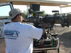 www.psavideo.com production activity with Leo our Phantom Tech setting up our camera to run at 20,000 frames per second.